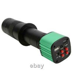 Caméra De Microscope Vidéo Industriel Usb 16mp Avec Objectif C-mount 180x 4x Zoom Numérique