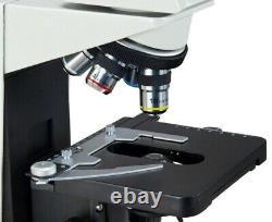 Haut De Gamme Trinoculaire Microscope Composé 40x-1600x Sturdy Base +5mp Appareil Photo Numérique