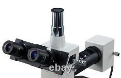 Microscope 40x-1600x Trinocular Metallurgical Compound Microscope Avec Appareil Photo Numérique 5mp