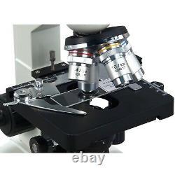 Microscope À Led Binoculaire De Laboratoire 40x-2000x Avec Appareil Photo Numérique 1.3mp