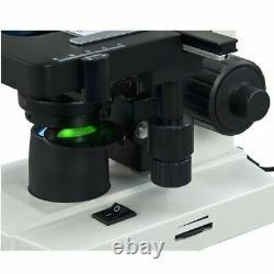 Microscope À Led Composé Trinoculaire Omax 40x-2000x Digital Lab Avec Caméra 1.3mp