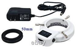 Microscope À Zoom Stéréo Trinoculaire 5-80x Grand Support De Table+5mp Caméra+54 Led Lite