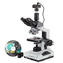 Microscope Composé Biologique 40x-2000x + Appareil Photo Numérique Usb 5mp