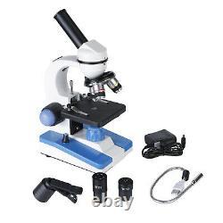 Microscope Composé Étudiant 40x-400x Glass Optics + Appareil Photo Numérique Usb