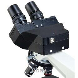 Microscope Led Composé De L'appareil Photo Numérique Usb 3mp Omax 40x-2500x