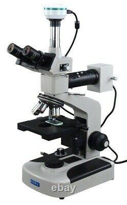 Microscope Métallurgique Composé Trinoculaire 40x-1600x Avec Appareil Photo Numérique 2mp