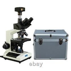 Microscope Numérique À Led Trinoculaire 14mp 40x-2000x+boîtier De Transport D'aluminium