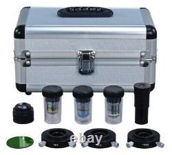 Microscope Numérique Composé 1600x Siedentopf Avec Caméra Usb Phase Contrast & 5mp