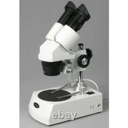 Microscope Stéréo Amscope Se306-pz-3m 20x-40x-80x Avec Appareil Photo Numérique 3mp
