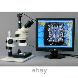Microscope Zoom D'inspection Amscope 3.5x-90x Avec Appareil Photo Numérique 9mp