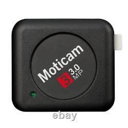 Moticam 3 Usb 3mp Appareil Photo Numérique Couleur Avec Logiciel Et Accessoires, Nouveau Dans La Boîte