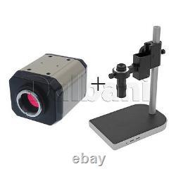 Nouveau Corps De Caméra De Microscope Numérique Avec Support Et Objectif 2mp C-mount Vga Video