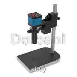 Nouveau Corps De Caméra Numérique Microscope Avec Support Et Objectif 14mp Bleu C-mount Hdmi