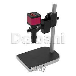 Nouveau Corps De Caméra Numérique Microscope Avec Support Et Objectif 14mp Rose C-mount Hdmi