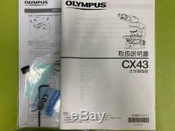 Olympus Cx43 Microscope Biologique Professionnel Presque Neuf Du Japon