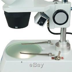 Omax 20x-60x 3mp Appareil Photo Numérique Binocular Stéréo Étudiant Microscope Double Lumières