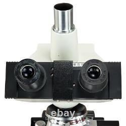 Omax 2500x Digital Led Compound Microscope+1.3mp Camera+slides+book+ Kit De Nettoyage