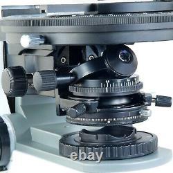 Omax 40x-1000x Plan Trinocular Infinity Polarisant Microscope+9mp Appareil Photo Numérique