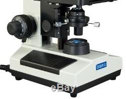 Omax 40x-2000x Composé Darkfield Trinoculaire Led Microscope + Appareil Photo Numérique 10mp