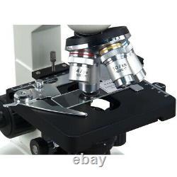 Omax 40x-2000x Digital Lab Led Microscope+1.3mp Caméra+slides+book+ Kit De Nettoyage