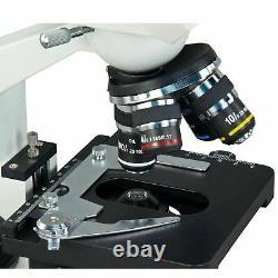 Omax 40x-2000x Intégré 1.3mp Digital Camera Binocular Compound Microscope +case