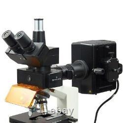 Omax 40x-2500x 14mp Microscope Numérique Epi-fluorescence Trinoculaire Biologique