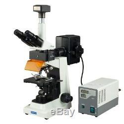 Omax 40x-2500x 14mp Microscope Trinoculaire Lab Épifluorescence Appareil Photo Numérique