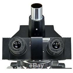 Omax 40x-2500x Biologique Composé Microscope Trinoculaire Avec 2mp Appareil Photo Numérique