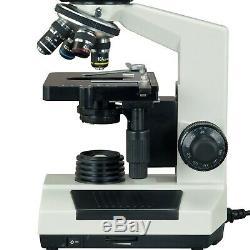 Omax 40x-2500x Biologique Composé Microscope Trinoculaire Avec 5mp Appareil Photo Numérique