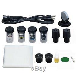 Omax 40x-2500x Darkfield Biologique Microscope Trinoculaire + 9mp Appareil Photo Numérique