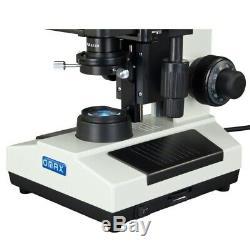 Omax 40x-2500x Darkfield Trinoculaire Led Biologique Microscope + 3mp Appareil Photo Numérique