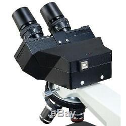 Omax 40x-2500x Intégré 3mp Composé Appareil Photo Numérique Microscope + Boîtier En Aluminium