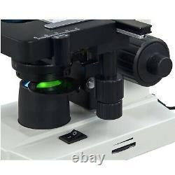 Omax 40x-2500x Led Digital Lab Binocular Compound Microscope Avec Caméra 3mp
