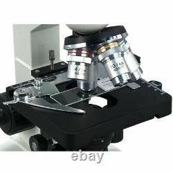 Omax 40x-2500x Led Digital Trinocular Lab Compound Microscope W 5mp Caméra Vidéo