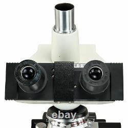 Omax 40x-2500x Microscope Trinoculaire Composé Caméra Numérique Usb Lumière Led