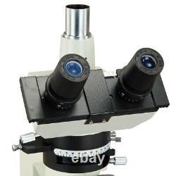 Omax 40x-600x Microscope Polarisant Trinoculaire+bertrand Lens+10mp Appareil Photo Numérique