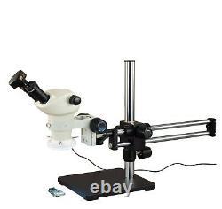 Omax 6-50x Stereo Microscope+boom Stand+54 Led Ring Light+9mp Usb Digital Camera