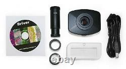 Parco 3.5x-90x Simul-focal Trinocular Zoom Stereo Microscope, 10mp Appareil Photo Numérique