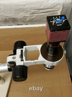 Scienscope Microscope Modèle Mz7 Cc-xga-cd2 Digital Camera Diagnostic Boom Stand