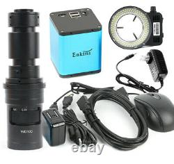 Sony Imx290 Caméra Numérique De Microscope Hdmi + 200x 500x Lens + Led Ring Light USA