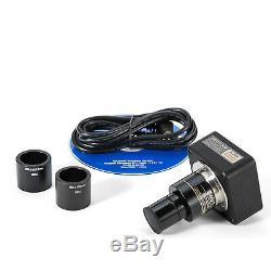 Swift 2500x Microscope Trinoculaire W Mechanic 3d Scène + 5mp Usb 2.0 De L'appareil Photo Numérique