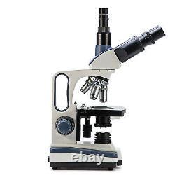 Swift 40x-2500x Led Digital Lab Trinocular Compound Microscope Avec Caméra 3mp