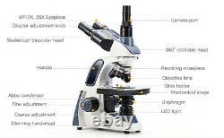 Swift Digital 2500x Microscope Composé Trinoculaire Étape Mécanique + Appareil Photo Usb