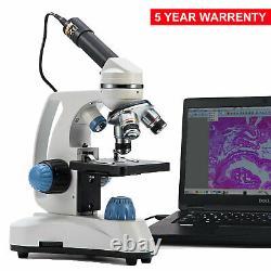 Swift Pro Digital Compound Microscope 1000x Dual Light Student Lab Avec Caméra Usb