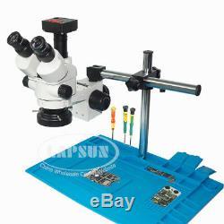 Téléphone Réparation Stéréo Trinoculaire Simul-focale Microscope + 16mp Hdmi Appareil Photo Numérique