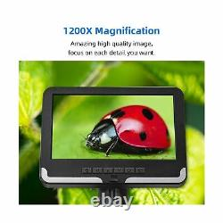 Wintex Digital Microscope Écran LCD 7in 1080p Caméra De Lumière Led Enregistreur Vidéo