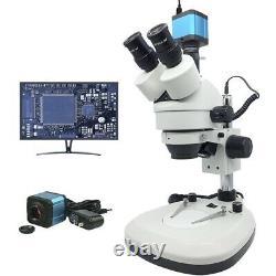 Zoom Microscope Lumineux Trinocular Stereo Digital Microscope Avec Caméra Usb